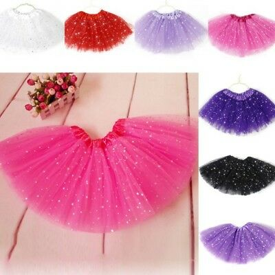 Princess Tutu Skirt Girls Kids Party Ballet Dance Wear Dress Pettiskirt Dress US