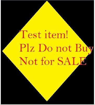 test item !! do not buy!!! NOT FOR SALE