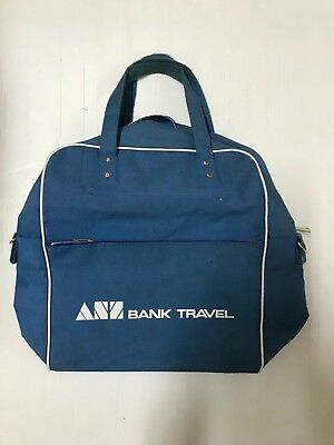 A.N.Z BANK VINTAGE ANZ BANK TRAVEL BAG FROM 1970's