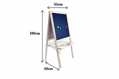 5-in-1 Little Boss Kids Art Easel Blackboard, Magnetic, White & Felt Boards