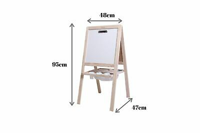 Junior 4-in-1 Little Boss Kids Art Easel Blackboard & Whiteboard with Paper Clip
