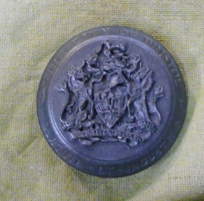 #d367. City Of Bristol  Coat Of Arms Paper Weight , Blotter