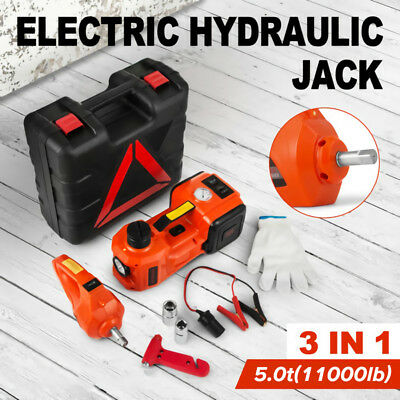 3 In 1 12V DC 5T Electric Hydraulic Floor Jack Lift 6600 LBS Car Use Automatic