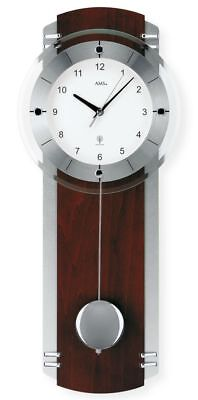 AMS 5245/1 Modern Wall Clock with Funkwerk, Radio Controlled, Battery Powered