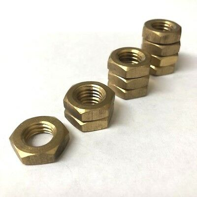 Solid Brass Lock Nuts M3 M4 M5 M6 Hex Half Jam Nut