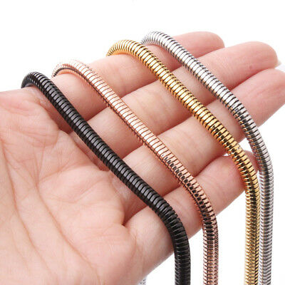 4.2mm Fashion Lady Womens Mens 316L Stainless Steel Snake Chain Necklace