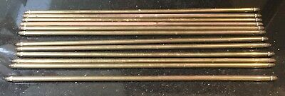"""Old Victorian Antique Brass Acorn End 1/2"""" Stair Rods x12 25"""" Long"""