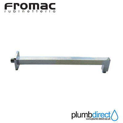 Fromac Wall-Mounted Shower Arm 40cm Chrome Rectangle, 6662, 61141.C, 6662 *NEW*
