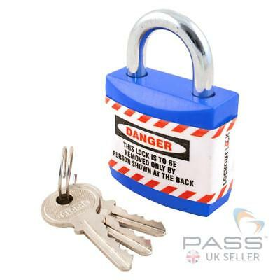 Lockout Jacket Padlock with Regular Shackle - Key Different (Blue)