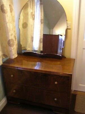 DRESSING TABLE with MIRROR  - MATCHING WARDROBE ALSO AVAILABLE DECENT CONDITION