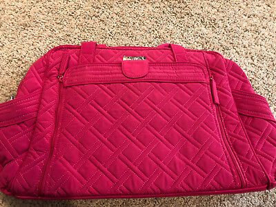 VERA BRADLEY Stroll Around Baby Bag FUSCHIA NWT Retail $158 #22