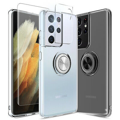 For Samsung Galaxy Note 9/S8/S9 Plus Stand Holder Case Cover+Magnetic Vent Mount