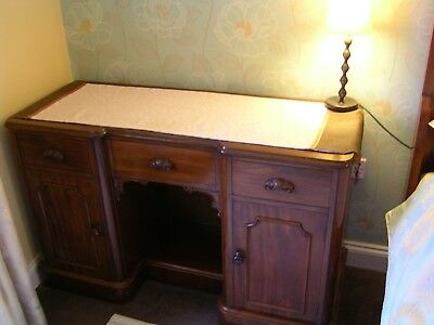 VICTORIAN DRESSING TABLE in SOLID HARDWOOD LOVELYCONDITION - USE AS A DESK??