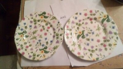 2x Queens Discontinued? Country Meadow Design  8 Inches Diameter Plate
