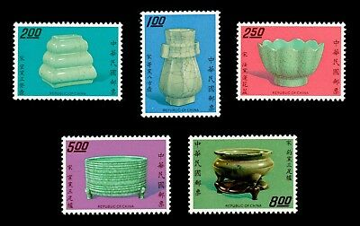 China Taiwan 1974 Porcelain Series 2 #1864-68 MNH