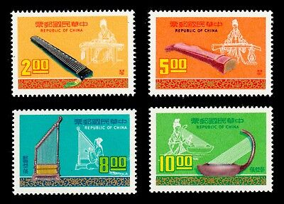 China Taiwan 1976 Ancient Musical Instruments #1975-78 MNH