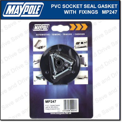 Maypole PVC Socket Gasket Seal & Fixings Towbar Towing Trailer Caravan MP247