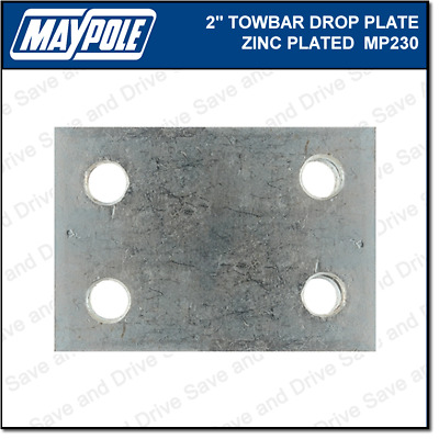 "Maypole Towball 2"" Inch Zinc Drop Plate Towbar Towing Trailer Caravan MP230"