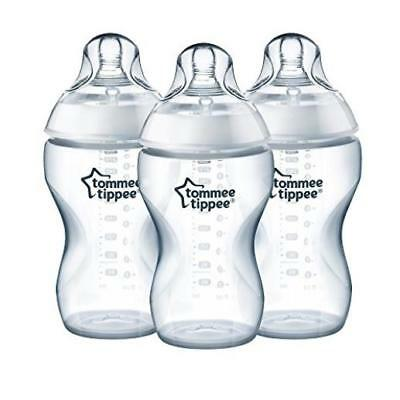 Baby Feeding Count 3 Tommee Tippee Closer To Nature Added Cereal Bottles 11 Ounc
