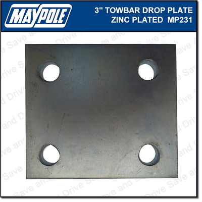 "Maypole Towball 3"" Inch Zinc Drop Plate Towbar Towing Trailer Caravan MP231"