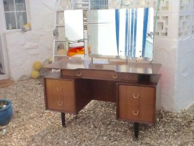 G Plan E Gomme 1950s Dressing Table With Three Mirrors