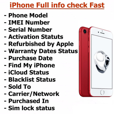 FAST iPhone info Check -IMEI / Carrier Unlock/FIND My Iphone /Blacklist Status/