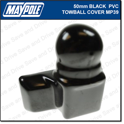 Maypole Black Towball Cover Cap Hitch Towbar Towing Trailer Caravan MP39