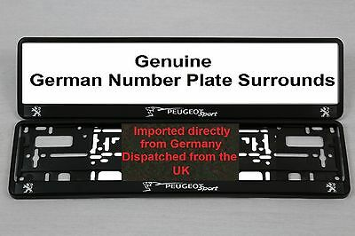 Peugeot Sport Number Plate Surrounds  X 2  Pair