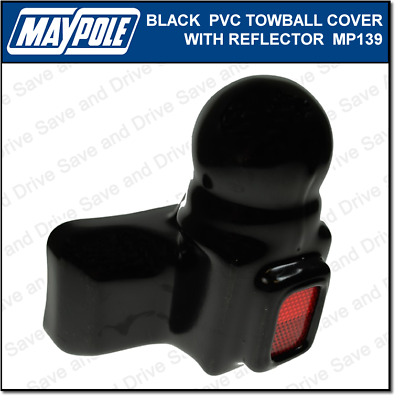 Maypole Black PVC Towball Cover Cap Hitch Towbar Towing Trailer Caravan MP139