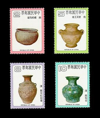 China Taiwan 1979 Ancient Chinese Pottery #2167-70 MNH