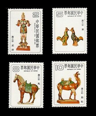 China Taiwan 1980 T'ang Dynasty Pottery #2196-99 MNH