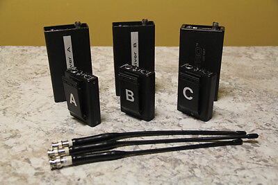 Lectrosonic VHF wireless mic kit: two CR-185/M185 and one CR-187/M187
