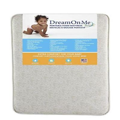 "Dream On Me 3"" Foam Graco Pack N Play Mattress With Bacterial Waterproof Cover"