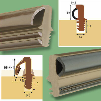 Weather Water Bar Door Threshold with Bubble / Flipper Seal for Wood Timber.