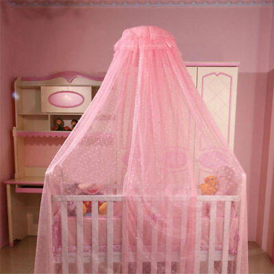 Baby Crib Bed Canopy Mosquito Net with Clip-on Stand Holder