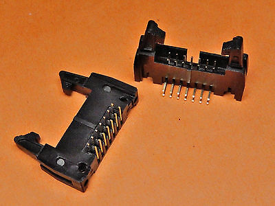Latch Header PCB CONNECTOR TI14LHR LATCHED HEADER 14 Way R/A