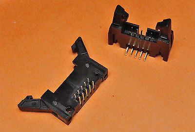 Latch Header PCB CONNECTOR TI10LHR LATCHED HEADER 10 Way R/A
