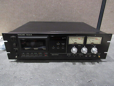 Tascam 112 MKII Professional Cassette Tape Recorder Player Tested & Working
