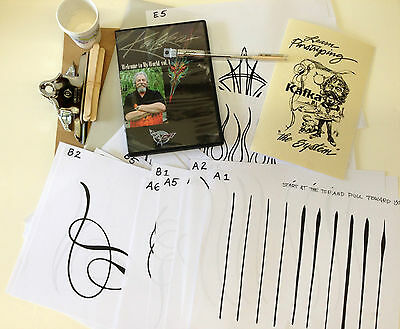 Kafka Lines & Designs Pinstriping System with DVD & Signature Scroller Brush #3