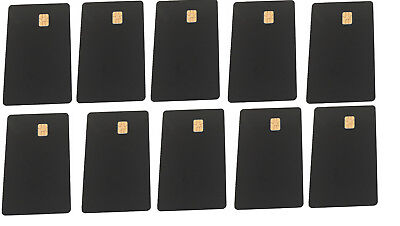 10 Pcs Black ISO PVC IC With SLE4442 Chip Blank Smart Card Contact