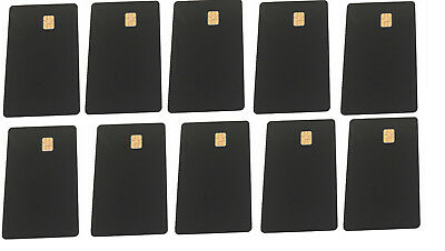20 Pcs Black ISO PVC IC With SLE4442 Chip Blank Smart Card Contact