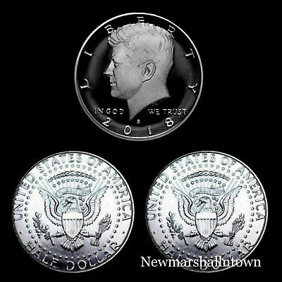 2018 P+D+S Kennedy Half Dollar Mint Proof Set ~ Proof and PD from Mint Rolls