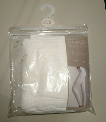 warm and cosy thermal leggings white size 20 - 22 New Supersoft touch stay warm