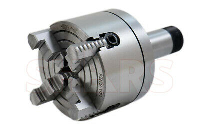 """SHARS 4"""" 4 Jaw Independent Lathe Chuck w/ Certification 5C Shank Arbor New"""