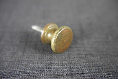 Antique Vintage Tiny Brass Cabinet Knob Early 1900's