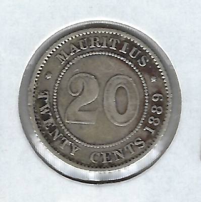 Mauritius 1889-H 20 cents Circulated