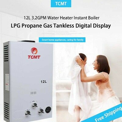 3.2GPM 12L LPG Gas Tankless House Instant Boiler Hot Water Heater