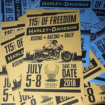 Harley Davidson 115th Anniversary Medium Poster Board Rare New ALMOST GONE