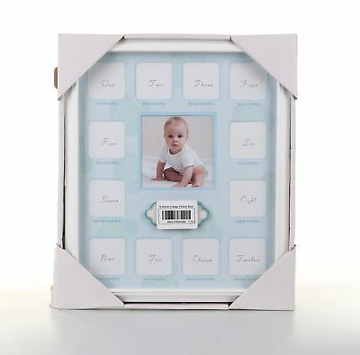Baby Growth Collage| Grade Wood and Glass Baby 12 Month Timeline Picture Frame f
