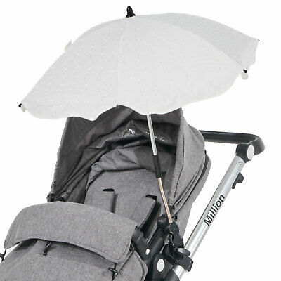 Broderie Anglaise Parasol Compatible with Silver Cross Wayfarer White